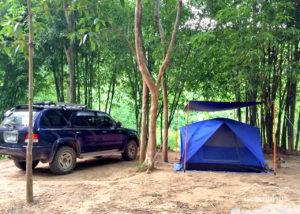 กางเต้นท์วันที่สอง ย้ายมาตรงนี้หน้าต้นน้ำเพชร โป่งลึก อช แก่งกระจาน เพชรบุรี